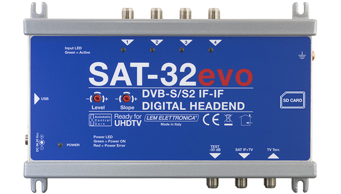 SAT-32EVO SATELLITE IF-IF DIGITAL HEADEND