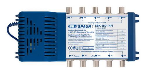 842437 SPAUN SBK5501NFI Πολυδιακόπτης κεφαλής με ενίσχυση επεκτάσιμος 1 Δορυφόρος + Επίγειο