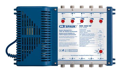 842389 SPAUN SBK5502NF Πολυδιακόπτης κεφαλής με ενίσχυση επεκτάσιμος 1 Δορυφόρος + Επίγειο