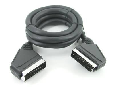 Scart σε Scart 21 pins όλα συνδεδεμένα 1.5μ 0.8mm υψηλής ποιότητας εύκαμπτο καλώδιο