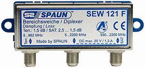 871108 SPAUN SEW121F Μίκτης & Διαχωριστής επιγείου και δορυφορικού σήματος για εσωτερικό χώρο ΑΜΦΙΔΡΟΜΟ = 871109 SPAUN SEW123F