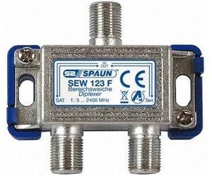 871109 SPAUN SEW123F Μίκτης & Διαχωριστής επιγείου και δορυφορικού σήματος για εσωτερικό χώρο ΑΜΦΙΔΡΟΜΟ = 871108 SPAUN SEW121F