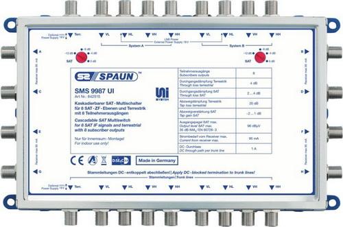 842515 SPAUN SMS9987UI 2 Δορυφόροι + Επίγειο σε 8 εξόδους