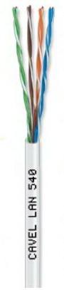 Καλώδιο CAVEL U/UTP Cat5e (300μ) LAN540 σε Λευκό χρώμα (4x2xAWG24) Χαλκός 0,51mm