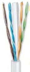 ANGA ST-L03 (305μ) Καλώδιο UTP CAT6 σε Λευκό χρώμα CCA/PVC