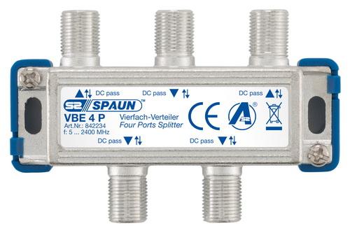 842234 SPAUN VBE4P Splitter 1/4 Εξόδων Με διέλευση τάσης σε όλες τις κατευθύνσεις