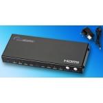 ANGA PS402HD HDMI Matrix, 4 Εισόδων - 2 Εξόδων, FullHD (1080p), 3D, HDCP με Τροφοδοτικό και τηλεχειριστήριο