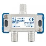 842223 SPAUN VBE2P Splitter 1/2 Εξόδων Με διέλευση τάσης σε όλες τις κατευθύνσεις
