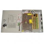 Σταθεροποιημένο τροφοδοτικό 12V / 10A / 120W, 9 εξόδων, ANGA CP1209-10A-9