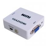 ANGA PS-M600 ΜΕΤΑΤΡΟΠΕΑΣ VGA θηλυκό με Ήχο σε HDMI (A) θηλυκό 720p/1080p (Ιδανικό για να προβάλεται σήμα εικόνας από υπολογιστή σε τηλεόραση)