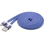 Goobay Καλώδιο πλακέ μωβ USB 2.0 (A) σε micro-USB (B) Φόρτισης & Συγχρονισμού 2μ για Smartphone & Table
