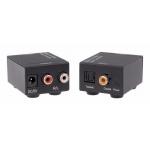 ANGA CVA-3004 Μετατροπέας Ψηφιακού Ήχου Toslink ή Coaxial σε Stereo RCA (περιλαμβάνει τροφοδοτικό 5V/1A)