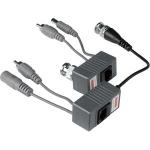 Video Balun Παθητικό CPB-H206PA (Ζεύγος) 350 - 550 Μέτρα με καλώδιο σε αρσενικό BNC & καλώδιο με DC Jack σε RJ45